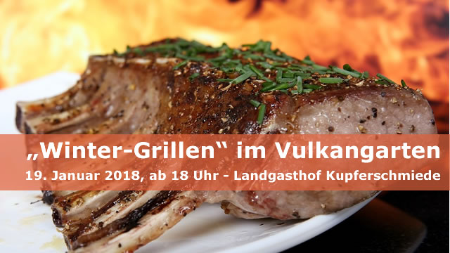 """Winter-Grillen"" im Vulkangarten"